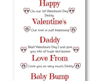 Personalised Valentineu0027s Card From Baby Bump   Baby Bump Valentineu0027s Card,  Valentineu0027s Day Card,
