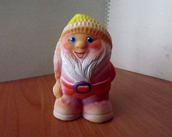 "Vintage soviet rubber toy ""Gnome1"". Made in the USSR."