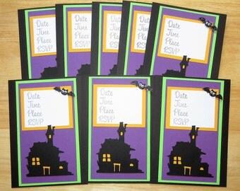 Halloween Invitations - Halloween Party - Halloween Invite - Halloween Costume Party - Haunted House Invites - Halloween Bat Invitation