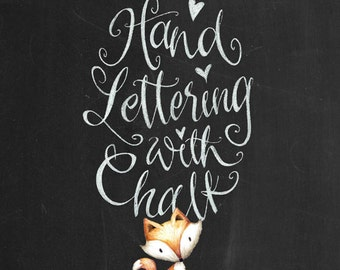Chalk Lettering lesson, calligraphy lesson, calligraphy tutorial, instant download, monique chalk art