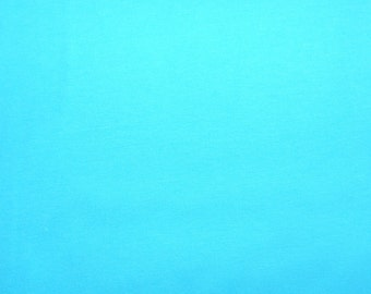 Fabric - cotton jersey fabric -  turquoise