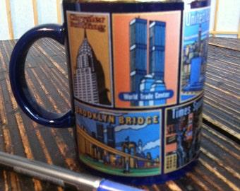 Vintage New York Coffee Mug Twin Towers