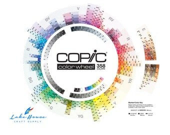 """Copic Color Wheel Poster 22""""X18"""". Copic Markers Color Wheel SALE"""