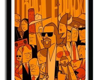 Affiche the big lebowski par Ale Giorgini
