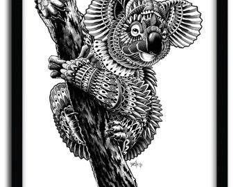 Affiche ornate koala par Bioworkz