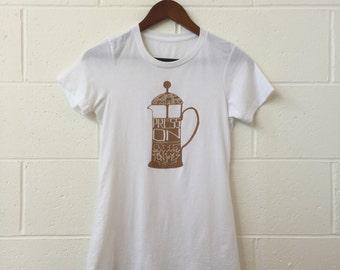Life is a Grind *Coffee Printed* Ladies Shirt