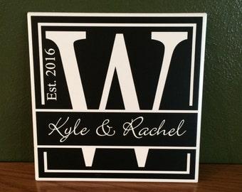 Personalized Wedding Tile
