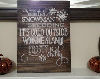 Winter Wonderland Wood Sign