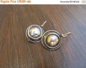 Valentine SALE Silver circle earrings, Oxidized silver earring, Geometric dangle earrings, Modern silver earrings, Geometric earring