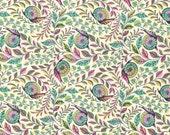 SALE Slow & Steady Pit Crew Fabric Half Yard or By-The-Yard; Tula Pink PWTP086-Straw; Free Spirit Fabrics; Strawberry/Kiwi