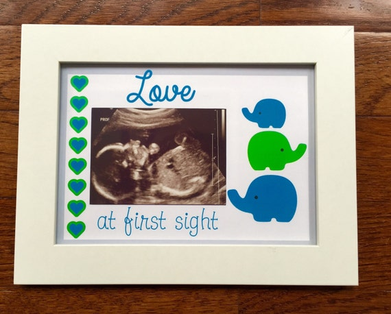 Ultrasound Frame Baby Picture Love at First Sight Sonogram