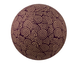 65cm Yoga Ball Cover - Plum Swirl Print