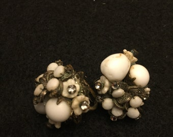 Miriam Haskell Earrings Signed