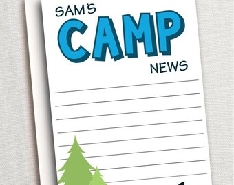 Camp Stationery with Envelopes, 20 Quantity, Thank You Note, Camping Party, Kids Stationery, Boy Stationery, Boy Stationary, Summer Camp