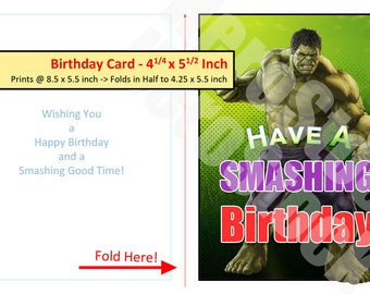 hulk birthday card  etsy nz, Birthday card