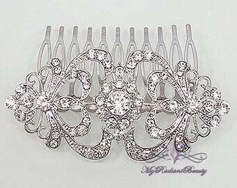 Wedding Comb, Bridal Comb, Bridal Rhinestone Comb, Crystal Vintage Comb, Swarovski Comb, Bridal Crystal Comb, My Radiant Beauty HC0010