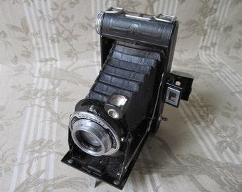 Vintage Français avec un soufflet appareil photo avec étui en cuir - lumière Lumirex Spector - Vintage Français - Spector lentille