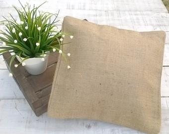 Burlap Pillow - Burlap Pillow Cover - Burlap Cushion Cover - Rustic Cushion Cover - Burlap Decor - Choose size