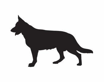 """4.75"""" German Shepherd Decal"""