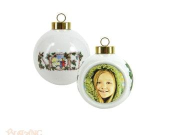 Heirloom Noel Photo Ball Christmas Ornaments - #Z04