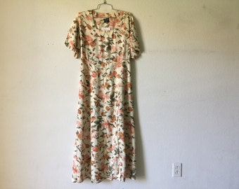 Vintage Dress - Floral Short Sleeve