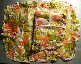 Vintage Bedding Flower Pillow Case Pair