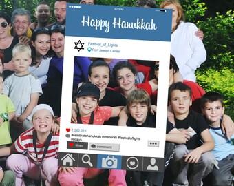 Instagram Style Frame - Happy Hanukkah edition