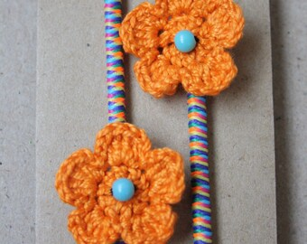 Crochet Flower Hair Bobbles
