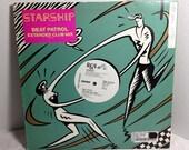 Starship vintage vinyl record Beat Patrol Maxi-Single WL PROMO OOP || 80's Pop Rock