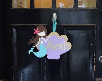 Customized Mermaid Birthday Door Sign, Mermaid Party Decorations, Mermaid Birthday Party, Under the Sea Party