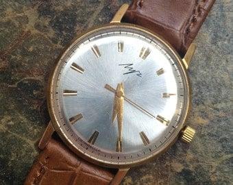 "Soviet watch "" Luch "" Russian watch Vintage Watch Men watch Mechanical watch- gold plated watch - USSR Vintage - montre sovietique"