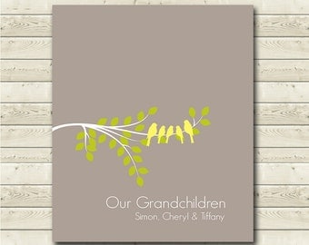 Grandchildren Sign - Grandchildrens Names - Personalized Grandparent Gift - Gift from Grandkids - Any Color Available