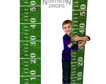 Photography Prop - FOOTBALL FIELD Growth Chart Ruler Photo Prop - Giant ruler growth chart prop - Life size printed photo prop 9inch x 60in