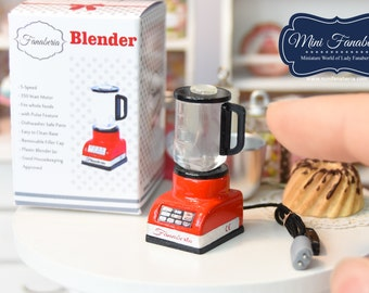 Miniature Blender (various colors) - handmade Dollhouse 1:12 scale appliance