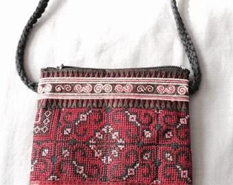 Embroidered handmade shoulder purse
