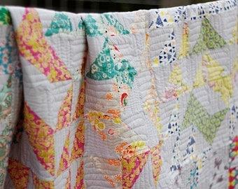 "Handmade Quilt/Handmade Bedspread by zakkStudio/79""x79"" inch/200x200 cm/Twin Cotton Quilt/Adult Bedroom/Quilt Modern/FREESHIPPING"