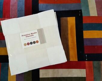 "Primitive Muslin Flannel 10"" squares"
