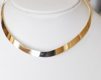 14K Solid Gold Choker Necklace