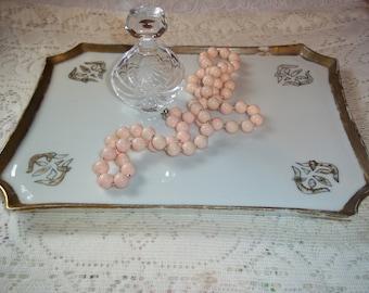 Limoges Porcelain Dresser Vanity Tray Wm. Guérin & Co France Antique 1891~1932 Art Nouveau Vanity Tray Handpainted Gold Gilt Trims