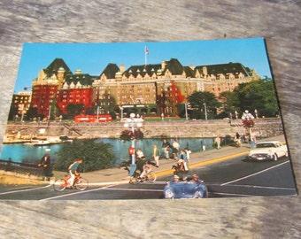 Vintage 1950's Postcard, Empress Hotel, Victoria, Canada