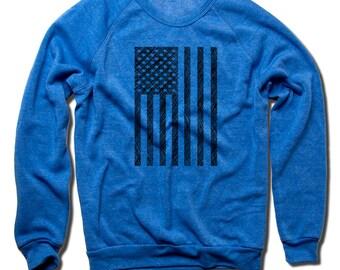 USA Vintage Crew Sweatshirt S-2XL USA Flag Sketch K
