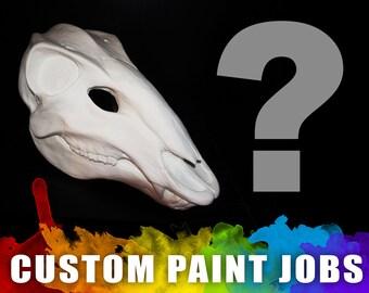 Custom Painted - Deer Skull Mask