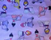 Robert Kaufman Pink Moped Fabric