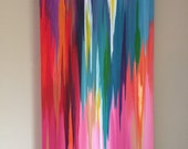 "Original abstract painting by Rita Ortloff 15""x30""x2"" - ""Rising"""