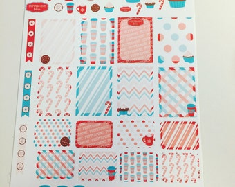 Weekly Planner Stickers Choco Mint