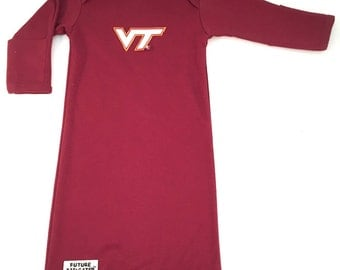 Virginia Tech Hokie Baby Layette Gown