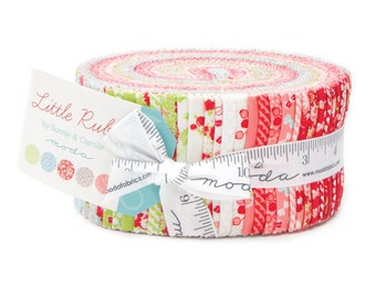 Little Ruby by Bonnie & Camille for Moda Fabrics.  Jelly Roll 55130JR