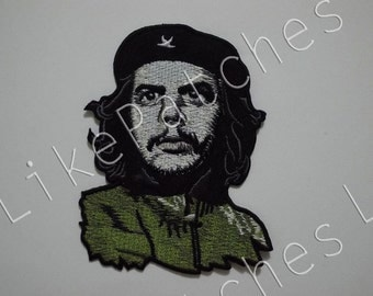 Bigger Than Normal Size - Che Guevara - New Sew / Iron On Patch Embroidered Applique Size 8cm.x10.2cm.