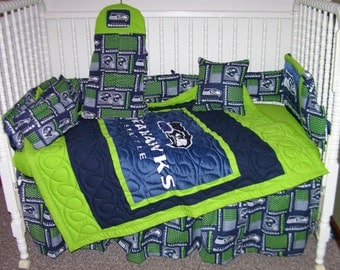 seahawks bedding | etsy