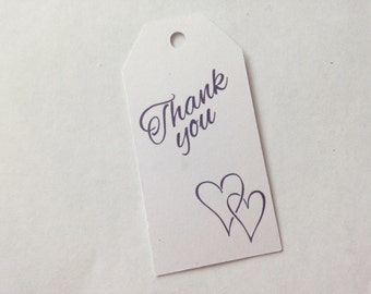 10 Thank you Tags 7cm x 3.5cm - Place Settings, Labels, Party, Decorations, Birthday, Wedding Favour, Engagement Favors